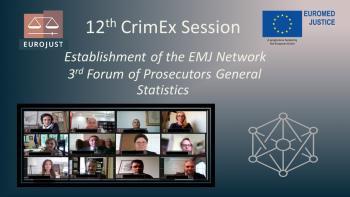 12th CrimEx discusses roadmap towards EuroMed Judicial Network