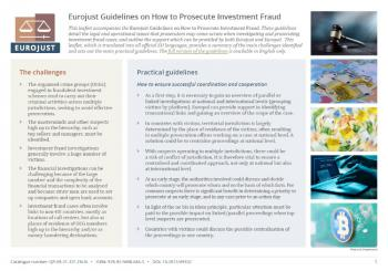 Eurojust Guidelines on How to Prosecute Investment Fraud - Leaflet